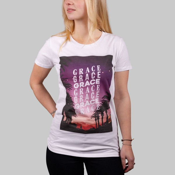GRACE GRACE GRACE, Girls T-Shirt, weiß