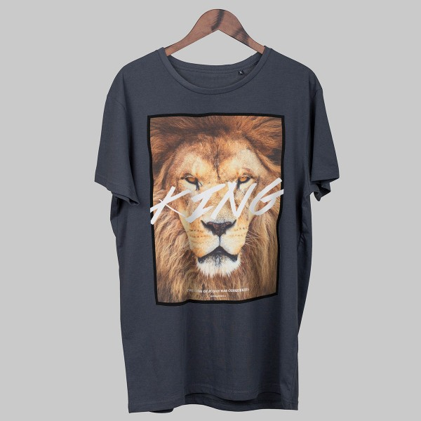 LION, Boys T-Shirt, dunkelgrau
