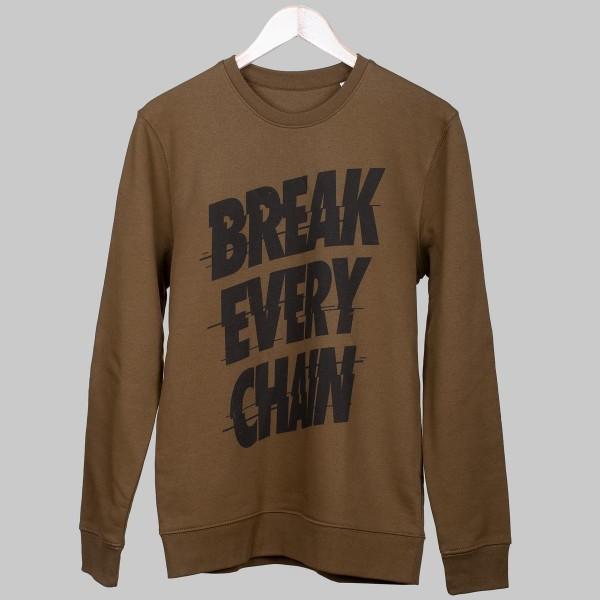 BREAK EVERY CHAIN, Unisex Sweater, British Khaki