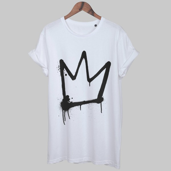 DRIPPY CROWN, Unisex T-Shirt, weiß