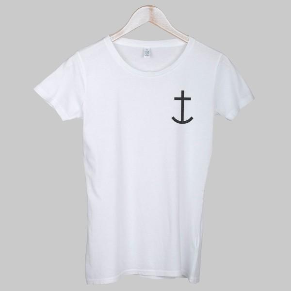 ANCHOR, Girls T-Shirt, weiß
