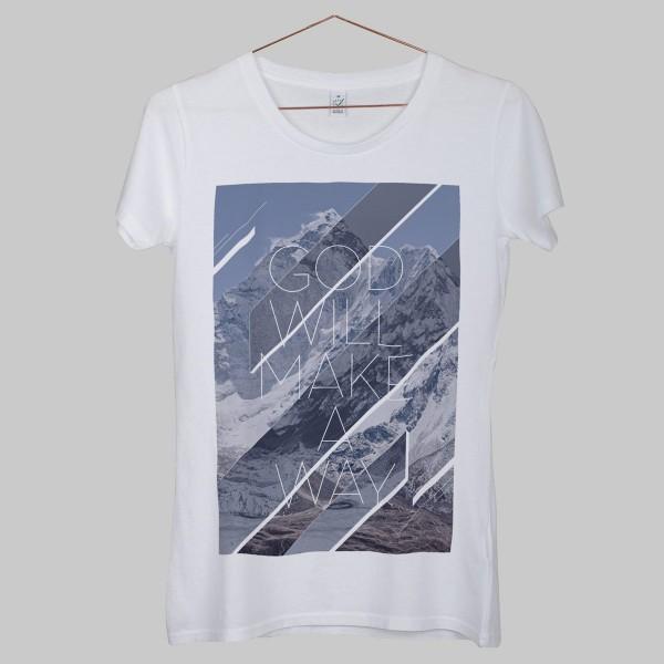 GOD WILL MAKE A WAY, Girls T-Shirt, weiß