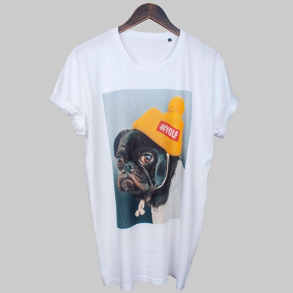 PUG, Unisex T-Shirt, weiß
