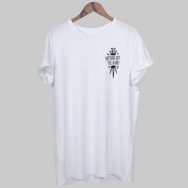BLOOD NAILS, Unisex T-Shirt, white