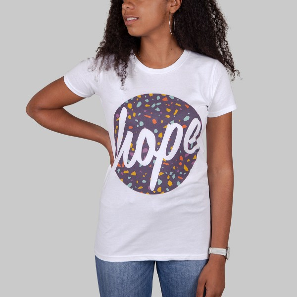 HOPE TERRAZZA, Girls T-Shirt, weiß