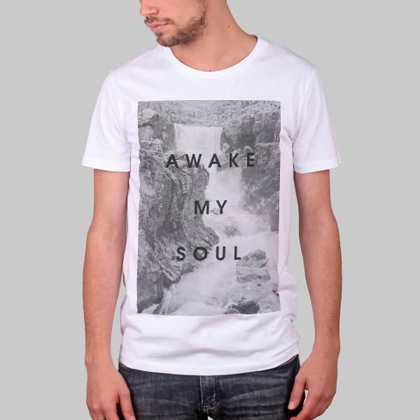 AWAKE MY SOUL, Boys T-Shirt, white
