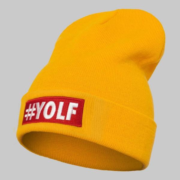 YOLF, Unisex Long Beanie, yellow
