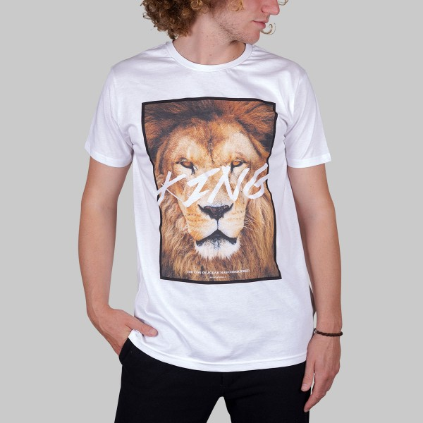 LION, Boys T-Shirt, weiß