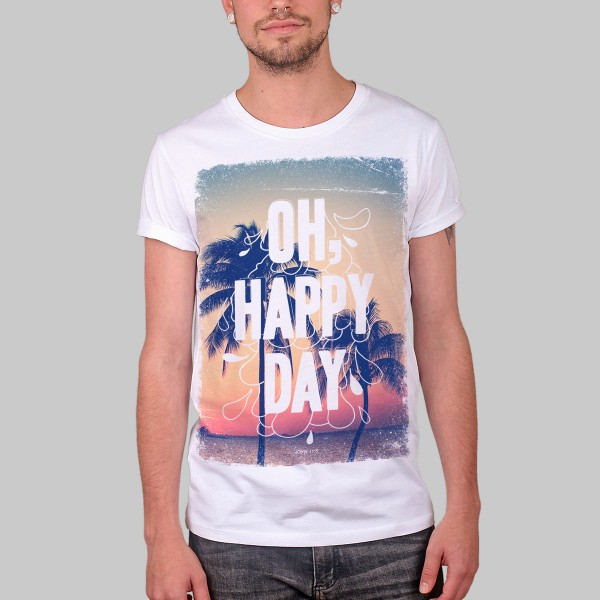 OH HAPPY DAY, Boys T-Shirt, white