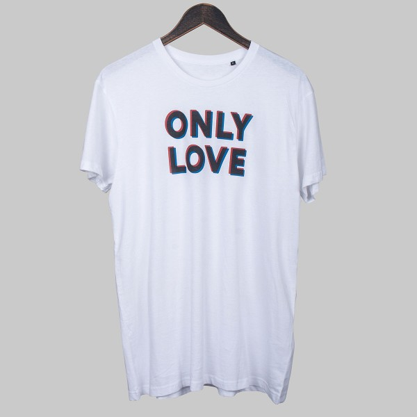 ONLY LOVE, Unisex T-Shirt, white