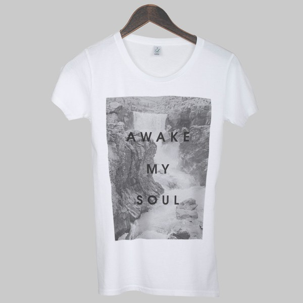 AWAKE MY SOUL, Girls T-Shirt, white