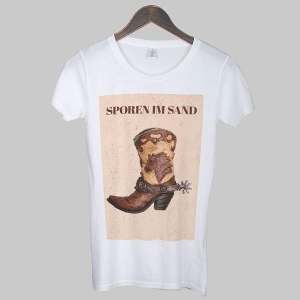 SPOREN IM SAND, Girls T-Shirt, weiß