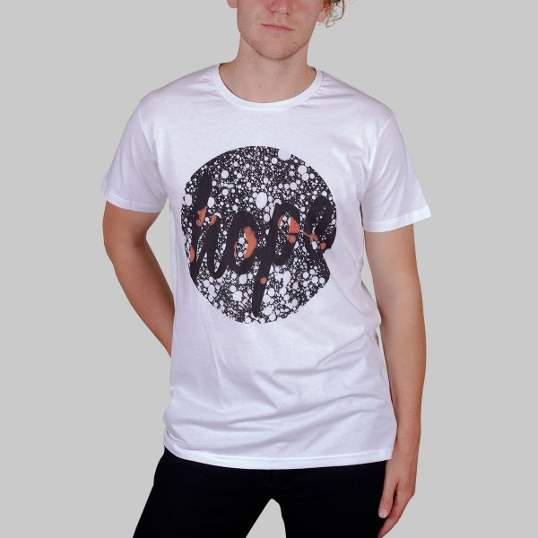 HOPE WHITE BUBBLES, Boys T-Shirt, weiß