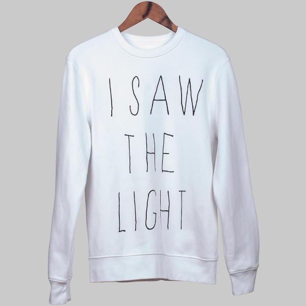 I SAW THE LIGHT, Unisex Sweater, white