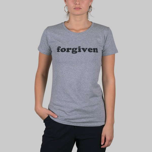 LOGO, Girls T-Shirt, grau meliert