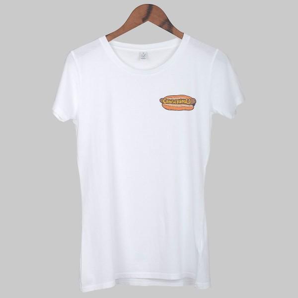 HOT DOG, Girls T-Shirt, weiß