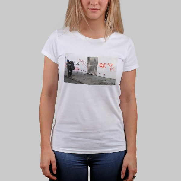 JESUS SAVES RAPSCHRIFT, Girls T-Shirt, weiß