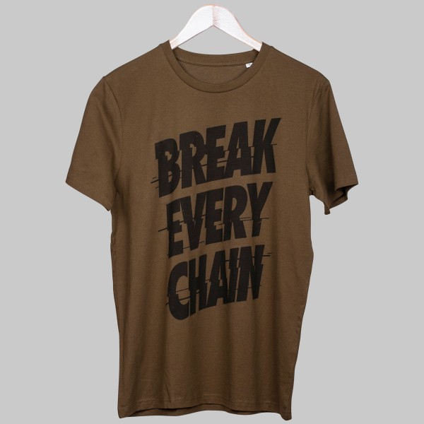 BREAK EVERY CHAIN, Boys T-Shirt, British Khaki