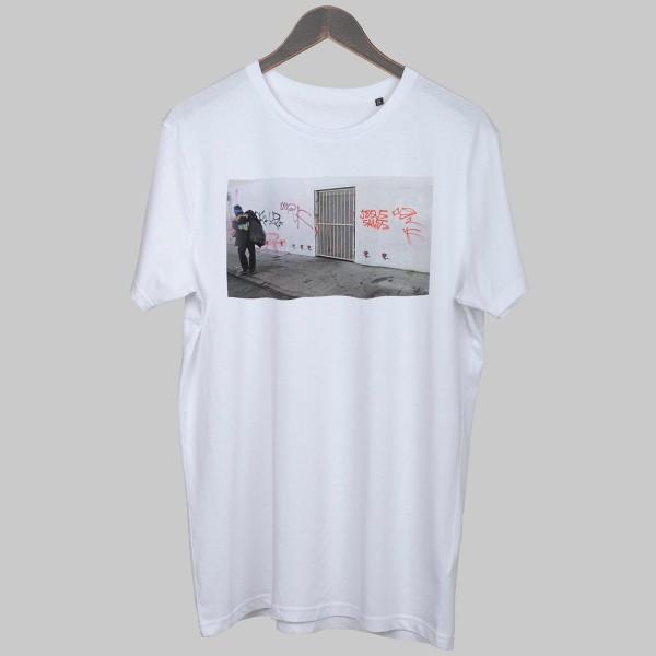 JESUS SAVES RAPSCHRIFT, Boys T-Shirt, weiß