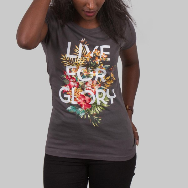 LIVE FOR GLORY, Girls T-Shirt, dark grey